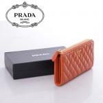 1M1183-13 PRADA 專櫃最新款韓版熱銷菱格小羊皮長款錢夾