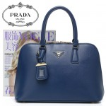 PRADA-BL0812 十字紋牛皮貝殼女包 手提包