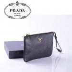 1N1530-1 PRADA 專櫃最新款韓版熱銷十字紋牛皮手拿包