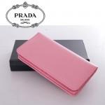1M1316-1 PRADA 專櫃最新款韓版熱銷十字紋牛皮拉鏈錢包