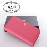 1M1316-3 PRADA 專櫃最新款韓版熱銷十字紋牛皮拉鏈錢包