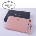 1N1530 PRADA 專櫃最新款韓版熱銷十字紋牛皮手拿包