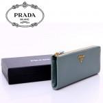 1M1183-18 PRADA 專櫃最新款韓版熱銷十字紋牛皮長款錢夾