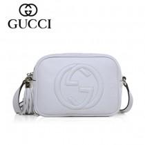 GUCCI 308364-10 夏季新款熱賣女包 時尚單肩包斜挎包女包頭層牛皮女包