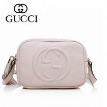 GUCCI 308364-3 夏季新款熱賣女包 時尚單肩包斜挎包女包頭層牛皮女包