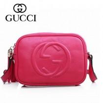 GUCCI 308364-2 夏季新款熱賣女包 時尚單肩包斜挎包女包頭層牛皮女包