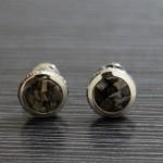萬寶龍Montblanc 1297 貴金屬咖啡大理石經典時尚袖扣