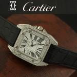 Cartier-10 - 卡地亞瑞士石英滿天星系列手錶
