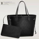 LV M40932 專櫃最新款水波紋原版牛皮黑色購物袋
