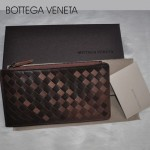 專櫃 歐美時尚 BV 編織卡包  羊皮卡片夾 手包錢夾 長款拉鏈雙色包包