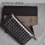 新款BV女款歐美流行時尚全羊皮長款編織手拿錢包1008-16