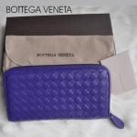 新款BV女款歐美流行時尚全羊皮長款編織手拿錢包1008-18