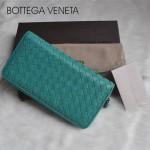 新款BV女款歐美流行時尚全羊皮長款編織手拿錢包1008-17
