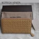 新款BV女款歐美流行時尚全羊皮長款編織手拿錢包1008-15
