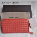 新款BV女款歐美流行時尚全羊皮長款編織手拿錢包1008-14