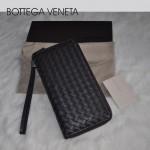 專櫃新款羊皮編織長款男錢包多卡位卡包 BV 5013-1