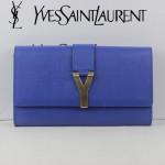 YSL 66013-5 專櫃新品YSL聖羅蘭新款手拿包女包真皮Y扣手包晚宴奢華