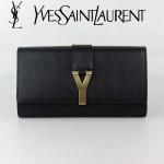 YSL 66013-2 專櫃新品YSL聖羅蘭新款手拿包女包真皮Y扣手包晚宴奢華