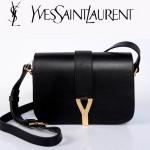 YSL聖羅蘭 66012-3 Y扣多層單肩斜挎女包包黑色