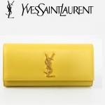 聖羅蘭 Y20-5 金色YSL LOGO 黃色手包