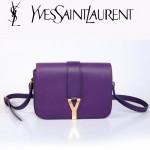 YSL聖羅蘭 66012-4 Y扣多層單肩斜挎女包包紫色