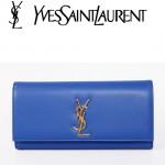 聖羅蘭 Y20-2 金色YSL LOGO 藍色手包
