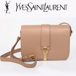 YSL聖羅蘭 66012-2 Y扣多層單肩斜挎女包包駝色