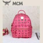 新款MCM韓版潮女旅遊雙肩背包袖珍款迷你鉚釘休閑女包  小號