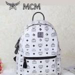 MCM 4釘白色雙肩背包 書包 爆款