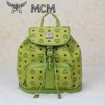 MCM雙肩包 2097-1書包 旅遊背包鉚釘書包草綠色