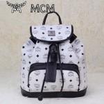 MCM雙肩包 2097書包 旅遊背包鉚釘書包白色