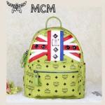 MCM 包包 米字國旗 鉚釘雙肩背包 中號