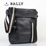 BALLY 0066-1牛皮男公文包斜跨男包黑色