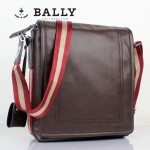 BALLY 0067男士公文包斜跨手提男包單肩包咖啡色