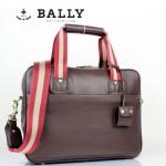 BALLY 巴利0068 男手提單肩斜跨包咖啡色