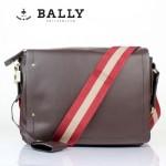BALLY 巴利0069 男手提單肩斜跨包咖啡色