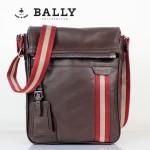 BALLY 0066牛皮男公文包斜跨男包咖啡色