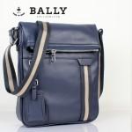 BALLY 0066-2牛皮男公文包斜跨男包藍色
