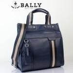 新款BAlly0074-2 休閑男款牛皮斜跨單肩手提男包藍色