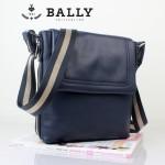 BALLY巴利 0073-2 男士皮包 休閑經典款牛皮斜跨男士包藍色