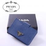 PRADA - 1M1211-2 經典斜紋牛皮男女通用卡包