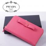 PRADA- 1M0506-27 長款蝴蝶結拉鏈錢包