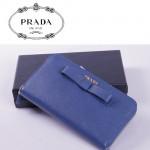 PRADA- 1M0506-29 長款蝴蝶結拉鏈錢包