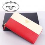 PADAD- 1M0506-18 女款錢包 女士女包牛皮 長款拼色拉鏈手包