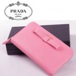 PRADA- 1M0506-26 蝴蝶結長款拉鏈錢包