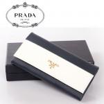 PRADA- 1M1132-22  新款牛皮錢包撞色十字紋牛皮錢包大牌中長款女錢包