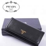 PRADA- 1M1132-25 新款女包頭層皮手拿包長款錢夾