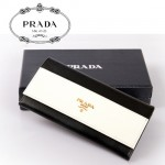 PRADA- 1M1132-20 女款拼色 長夾 錢包 錢夾