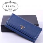 PRADA- 1M1132-26 新款女包頭層皮手拿包長款錢夾