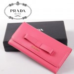 PRADA-  1M0506-32  新款PRADA 蝴蝶結女士牛皮長款錢包